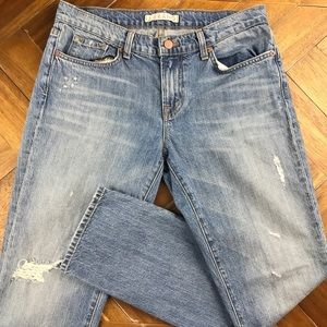 J Brand Aidan Gemini Distressed Boyfriend Jeans
